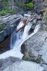 MT-Glacier National Park waterfall