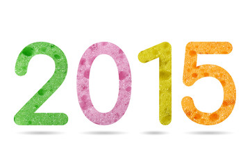 2015 numeric from colorful sponge texture