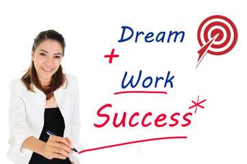 Successful of business concept by dream and work