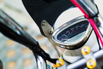 Speedometer motorcycle - old retro classic .