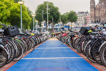 Parking for bikes in Amsterdam