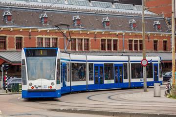 Tram in Amsterdam, Netherlands
