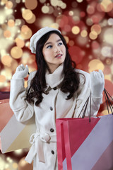 Gorgeous girl with shopping bags