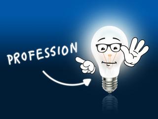 Profession Bulb Lamp Energy Light blue
