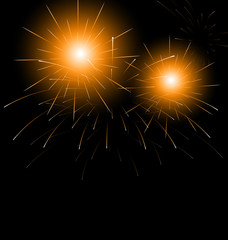 Christmas dark background with fireworks