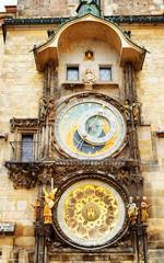 The Prague astronomical clock (Prague orloj) at the Old Town Squ