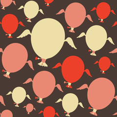 Seamless pattern with colorful balloons.