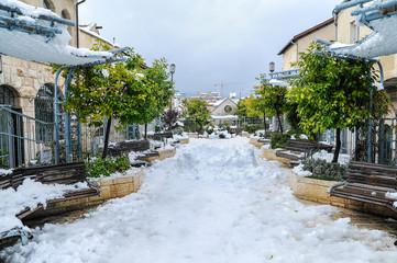 Snow in Jerusalem