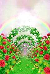 バラの花道