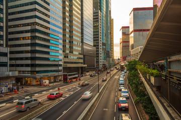 Hong Kong Urban Road Sunset