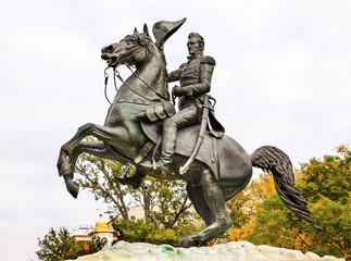 Jackson Statue Lafayette Park Autumn Washington DC
