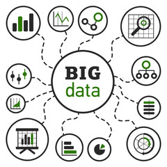 BigDataVectorIllustrationGreen