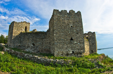 Ruins of old turkish fortress Ram by the river Danube