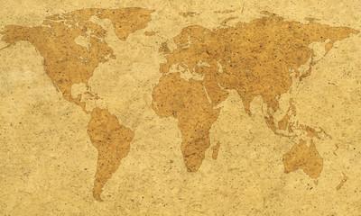 Textured world map