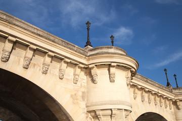 Fragment of Paris bridge Pont Neuf, France.