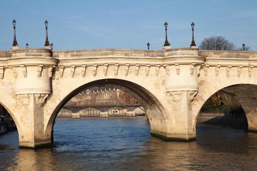 Parisian bridge Pont Neuf, France.