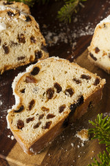 Festive Christmas German Stollen Bread
