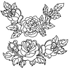 roses flowers and leaves