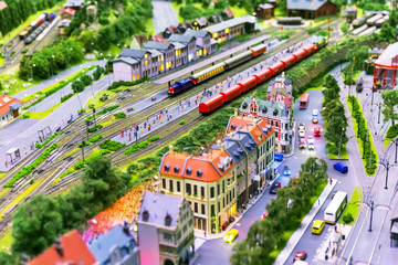 Toy railway layout