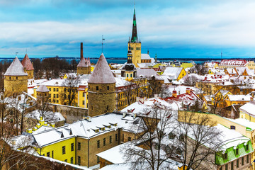 Winter scenery of Tallinn, Estonia