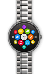 Stainless steel luxury smartwatch