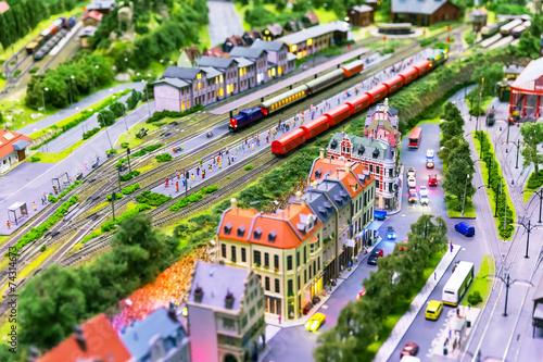 Toy railway layout - 74314673