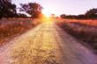Leinwandbild Motiv Road in field