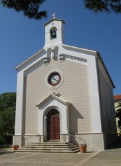 The church of the village Ilovik in Croatia