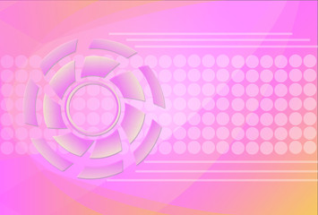 tech circle and arrow background