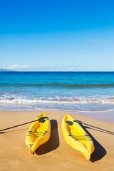 Ocean Kayaks on Sunny Beach