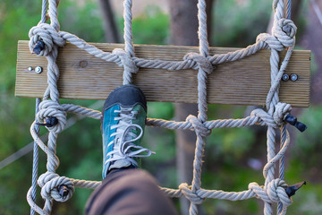 step on the rope grid