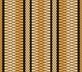 Elegant seamless pattern of interlacing curves