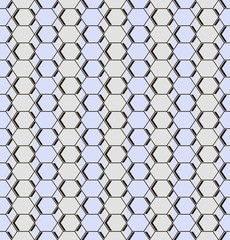 Seamless pattern of different sized hexagons and rhombuses