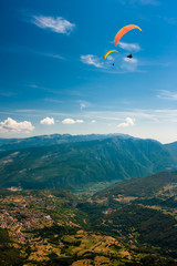 Paragliding on the sky