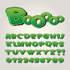 Horror Comic Pop Art Alphabet and Numbers, Editable eps10 Vector