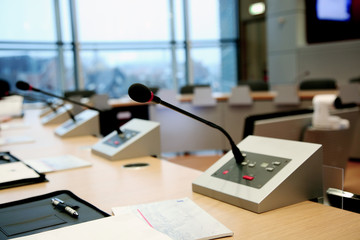 Microphones for speech in the conference room