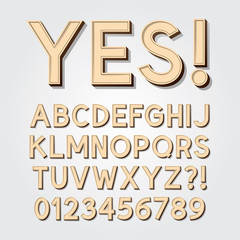 Abstract Vintage Alphabet and Numbers, Editable eps10 Vector