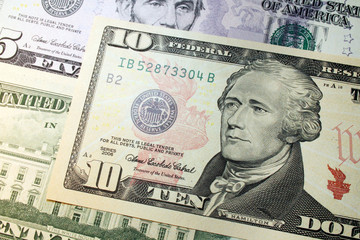 alexander hamilton, dollar banknote portrait