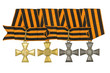 Complete set Order of St. George 1,2,3 and 4 degrees (soldier).