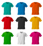 Fototapety Colorful T-shirts /with clipping path