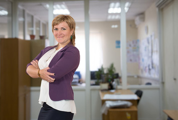 Mature female businesswoman at the office