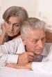 Portrait of a sad elderly couple