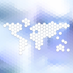 Abstract world map, abstract template vector