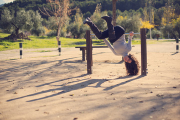 Outdoors sport: Park and woman