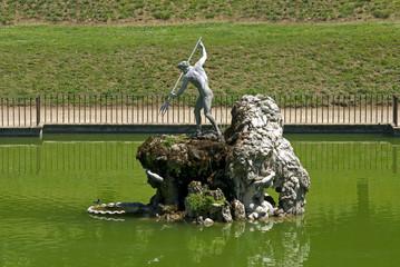 The Neptune fountain in the Boboli gardens