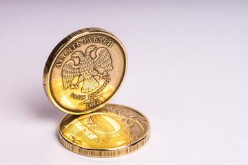 Монета. Десять рублей.