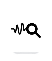 Cardiogram monitoring icon on white background.