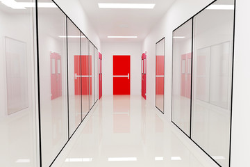 Corridors Emergency exitFor Clean room pharmaceutical plant