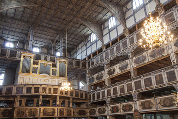 Interior of Evangelical- church - Jawor