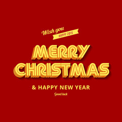Merry Christmas & Happy New Year greeting card vector design